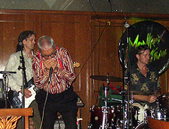 Charlie Morris onstage with Claude Nobs at Montreux 2007
