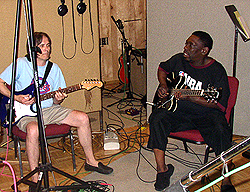 Charlie Morris at Panda Studio with Lucky Peterson