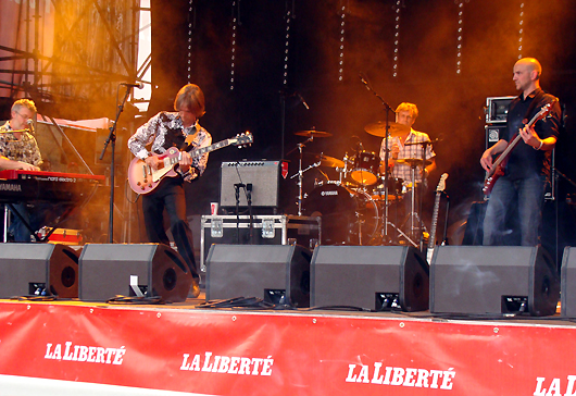 Charlie Morris Band at Fribourg. Photo by Denise.