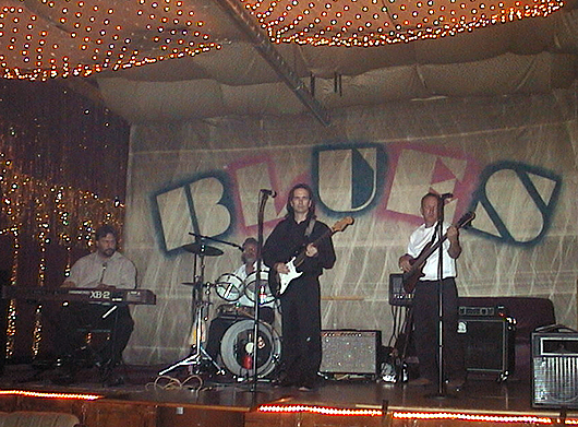 CMB on stage at the Blues Bar