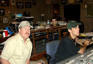 Alan Craig and George Harris at Panda Studios in Clearwater